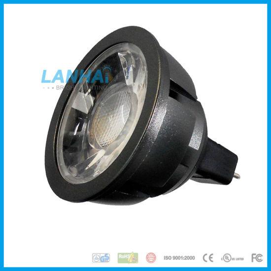 China Black Aluminum Light Cup 12v Mr16 E27 Gu10 Gu5 3 Cob 5w Led