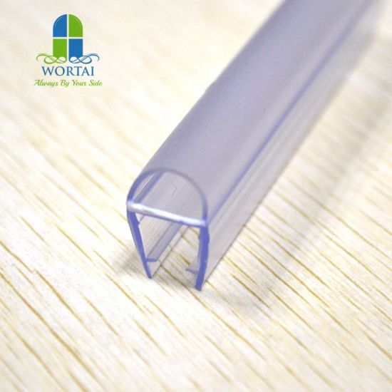 Shower Door Seal Anti-Aging PVC Rubber Waterproof Glass Edge Strip for Fan-Shaped Glass Door pictures & photos