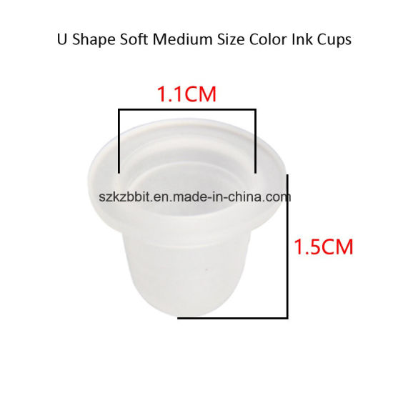 Disposable Silicone Tattoo Ink Cup 1000 Pieces Per Bag Tattoo Products for Eyebrow Microblading pictures & photos