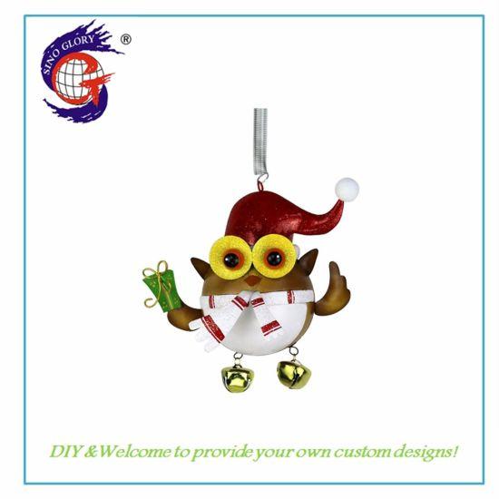 Custom New Metal Owl Christmas Hanging Art Craft for Decorations
