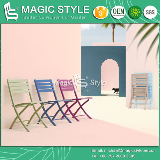 Outdoor Folding Chair Garden Aluminum Chair Patio Dining Chair Coffee Chair Hotel Rattan Furniture pictures & photos