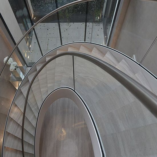 Indoors Models Glass Round Stairs Price / Stainless Steel Curved Staircase