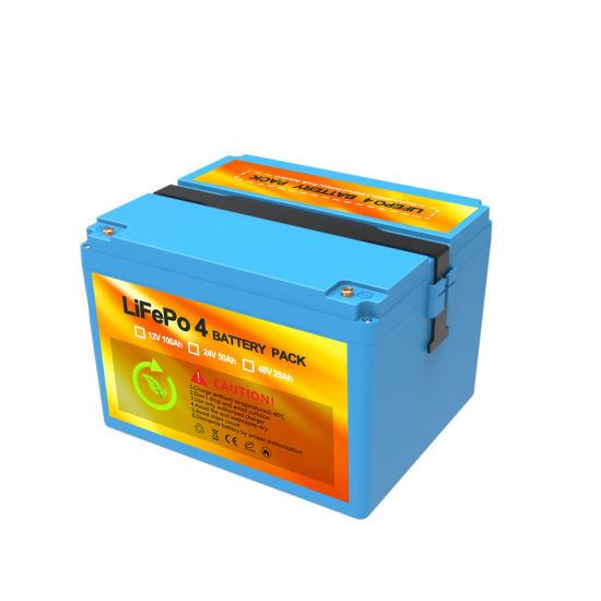 Deep Cycle Solar Storage 12V 100ah LiFePO4 Lithium Battery Pack Car Battery