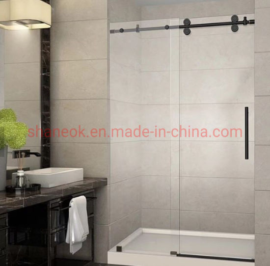 Customized Home and Hotel Bathroom Sliding Glass Shower Partition Room