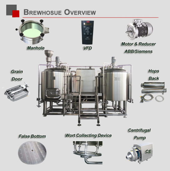 1000L 1500L Per Batch Stainless Steel Micro Brewery Brewing Fermentation Fermenting Equipment