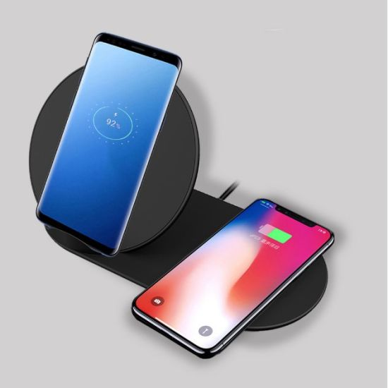 Dual Phone Wireless Fast Charger for iPhone X/Xs/Xs Max pictures & photos