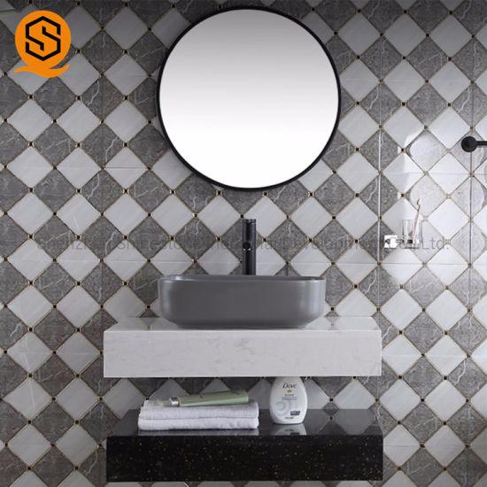 New Design Countertop Acrylic Solid Surface Bathroom Vanity Top for Sale