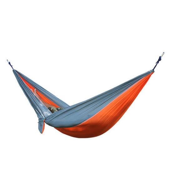 Nylon Parachute Double Tree Straps Travel Camping Hammock