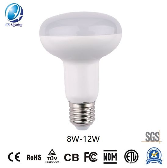 LED Bulb LED Lights R80 Type Bulb Smooth Surface 8W-12W 720lm-1080lm Distributor Factory