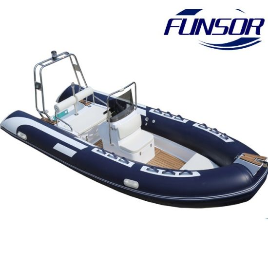 New Rigid Inflatable Rib Boat with Outboard Motor for Fishing and Military 4.8m