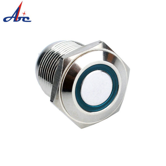 16mm ON OFF Latching LED Lighted 1NO Push Button Switch