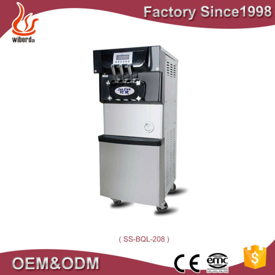 Professional 3 Flavors Counter Top Used Portable Soft Serve Ice Cream Machine