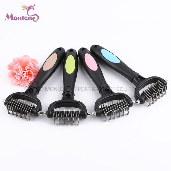 Pet Cat/Dog Cleaning Grooming Brush Stainless Comb Deshedding Tool