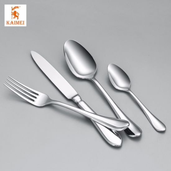 304 Slap-up Mirror Surface Stainless Steel Fork/Spoon/Knife Kitchen Tool Dinnerware Set Cutlery