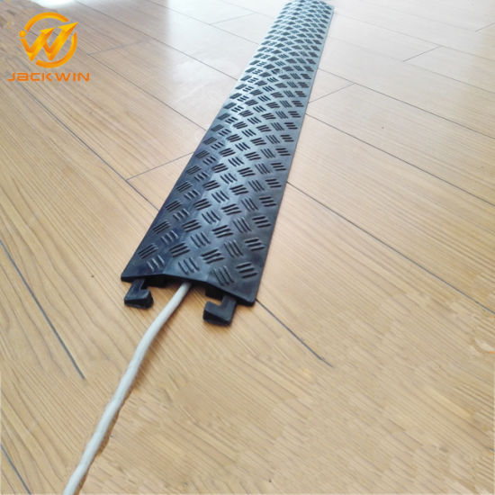 Hose Ramp for Floor / Flexible Cable Protector / 1 Channel Office Cable Protector