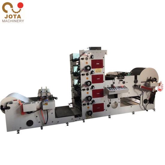 Automatic 4 Color Paper Straw Flexo Printing Machine