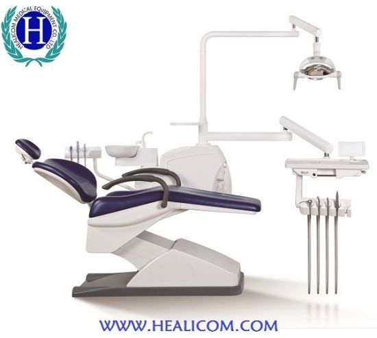 Ce, ISO Approved Electric Dental Unit Chair with LED Lamp pictures & photos