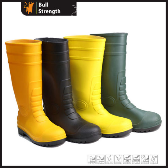 Ce Certificate PVC Rain Boots Waterproof Safety Shoes Work Boots Sn003