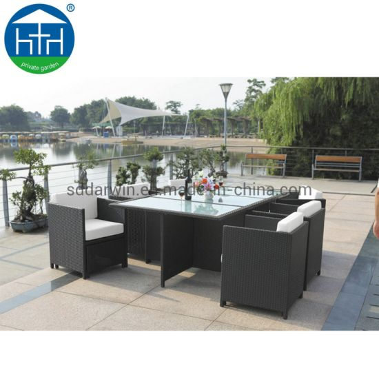 Modern Garden Luxury All Weather Restaurant Table and Chairs Outdoor furniture Aluminum Patio Dining Set