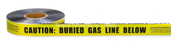 Underground Buried Al Detectable Caution Warning Tape Factory