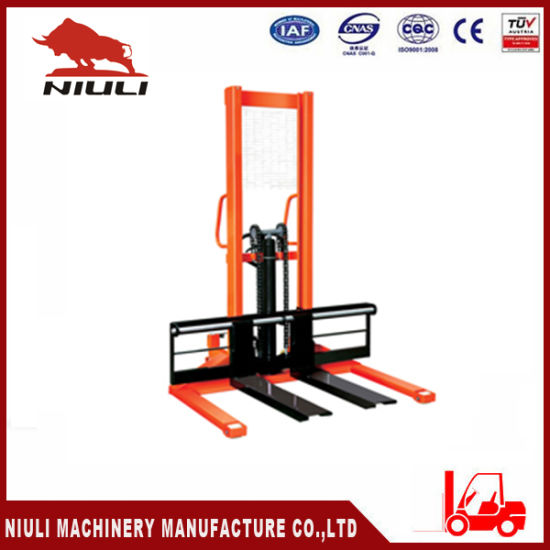 Wide Legs Hand/Manual Pallet Stacker with Ce