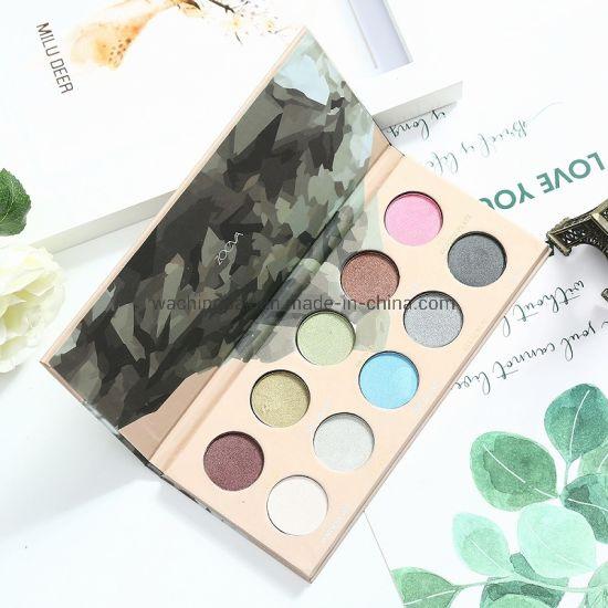 Custom 10 Color Eyeshadow Palette Packing Container Eyeshadow Palette Packaging Box with Magnetic