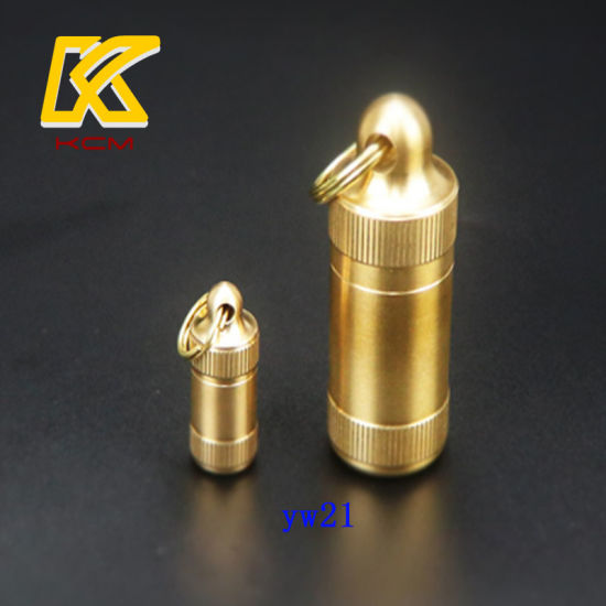 Custom Brass Pill Case Pill Containers Waterproof Storage Outdoor Survival Medicine Box Waterproof Bottle pictures & photos