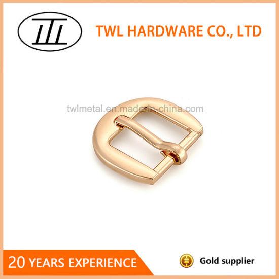Low Price Zinc Alloy Light Color Belt Buckle