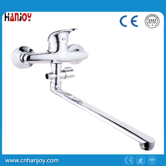 Double Hole Long Spout Bath and Shower Mixer Faucet pictures & photos