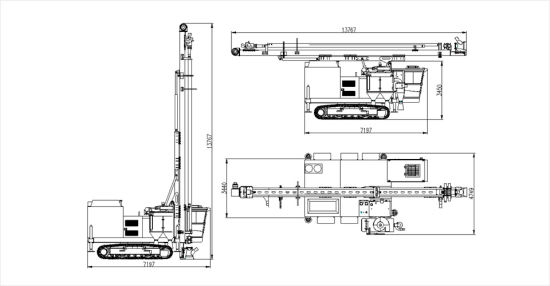 Ce Approved High Quality Drilling Tool Rotary Drill Rig pictures & photos