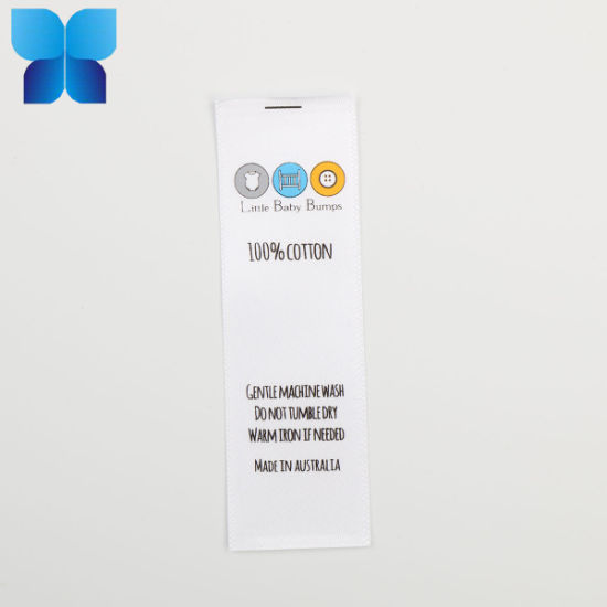 Factory Supply Washing Label Design and Printing for Apparel