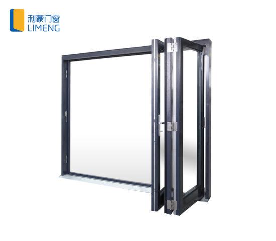 Thermal Broken German Hardware Aluminum Bi-Folding Window