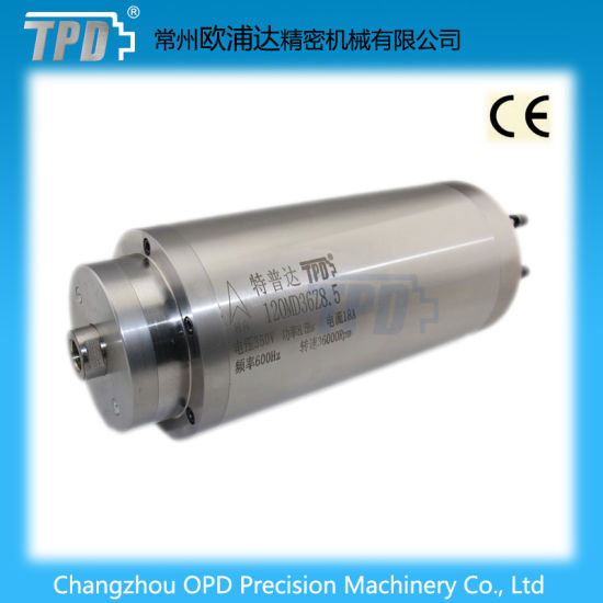 120mm Diameter 8.5kw Water Cooling Grinding CNC Router Spindle Motor pictures & photos