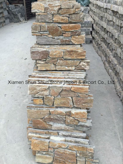 Natural Rusty Cement Slate Culture Stone for Wall Decoration