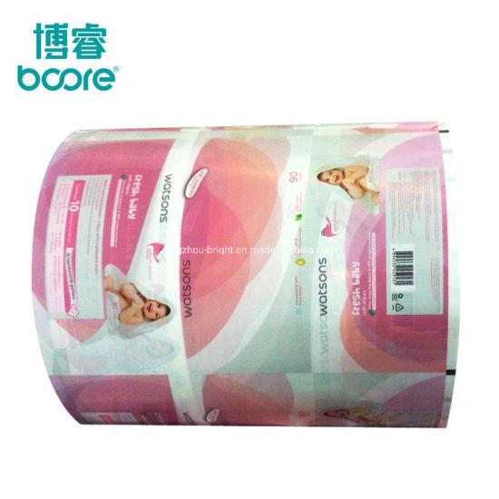 Heat Sealing Packaging Film Plastic Packaging Printed Materials Printed Film Roll for Wet Tissue