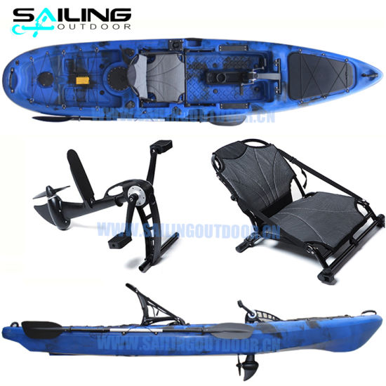 One Person 13FT Fishing Pedal Kayak Con Pedali Ocean Kayaks with Pedals