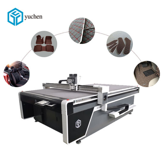 Factory Price Automotive Interior Equipment Car Foot Mat/Seat Cover/Leather Cutting Machine with Oscillating Cutter
