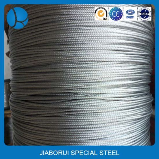 2mm 3mm Diameter Galvanized Stainless Steel Wires Rope pictures & photos