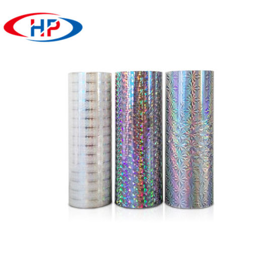 Rainbow Metallized Polyester / Holographic Embossing Metallized Pet Film pictures & photos
