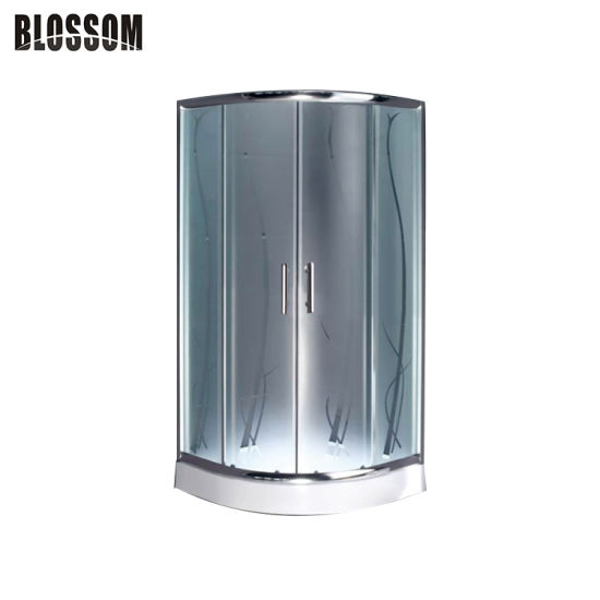 Cheap Acid Glass Simple Enclosure Shower Room Shower Cabin (BLS-9509)