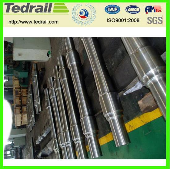 ISO9001 CNC Machining Railway Shaft Custom/Alloy Precision Forging Railway Axle