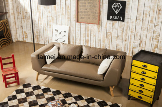 Living Room Furniture Contemporary Genuine Leather Sofa pictures & photos