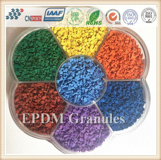 High EPDM Rubber Content Colorful Rubber Granule From Factory