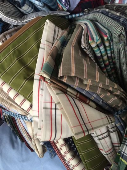 Cotton Shirt Fabrics in Stocks pictures & photos