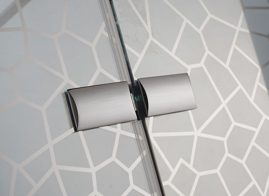 Walk in Shower Door with Chromed Copper Profiles (K-W02) pictures & photos
