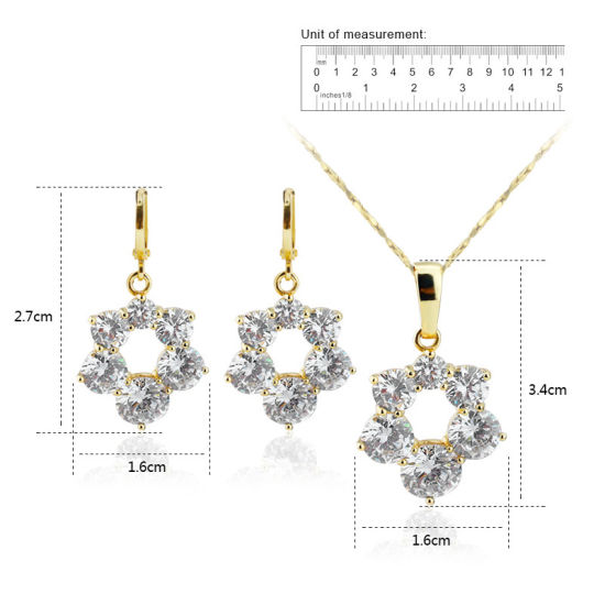 New Arrival Fashion Women Dubai Jewelry Sets 18k Gold Plated pictures & photos