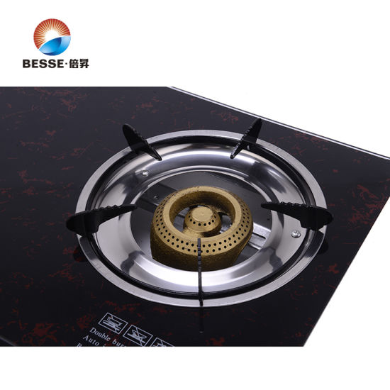 Double Burnner Gas Stove, Glass Material pictures & photos