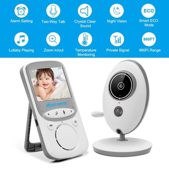"Video Baby Monitor with Camera 2.4/"" Color LCD Display VOX Mode 2.4 GHz For Signa"