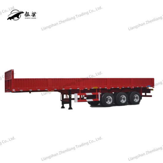 40 Ton 2/3 Axles Side Wall/Side Board/Side Drop High Bed Semi Trailer for Container and Cargo Transportget Latest Price