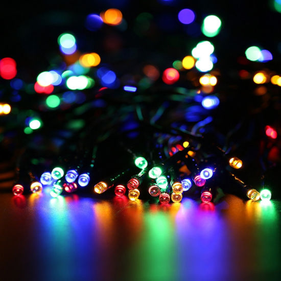 china solar led christmas lights color changing 200 leds solar
